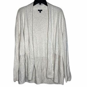 Talbots Open Front Stretch Knit Cardigan XL